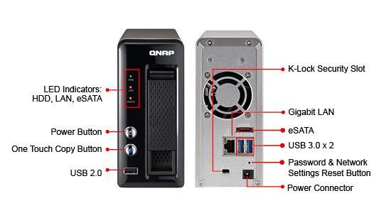 Qnap TS-121 Сетевой RAID-накопитель ( NAS DLNA Cloud Qsync )
